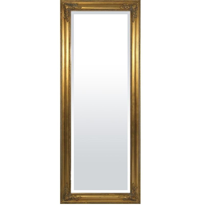 lustro duże rama złota miniatura