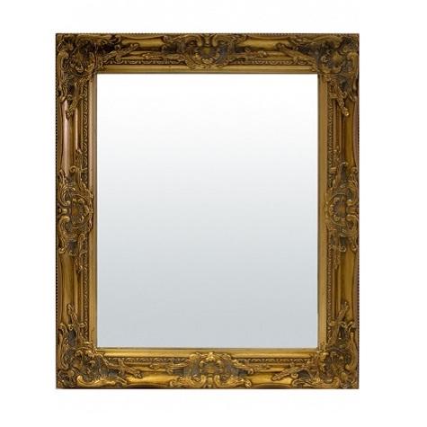 lustro małe złota rama