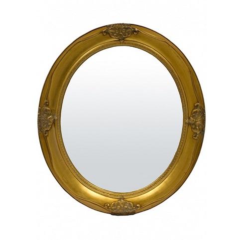 lustro owalne złota rama miniaturka