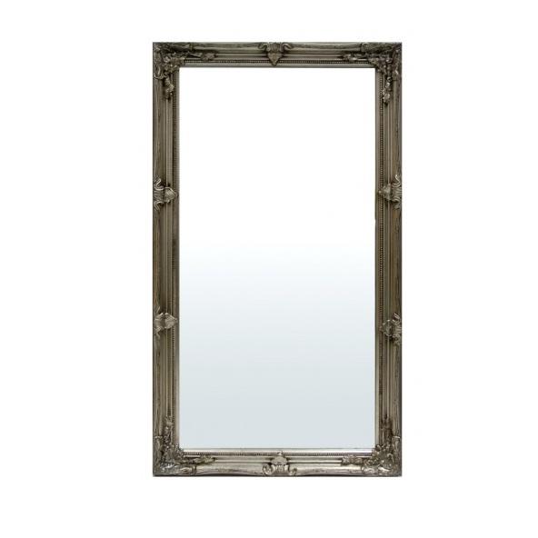 lustro w srebrnej ramie