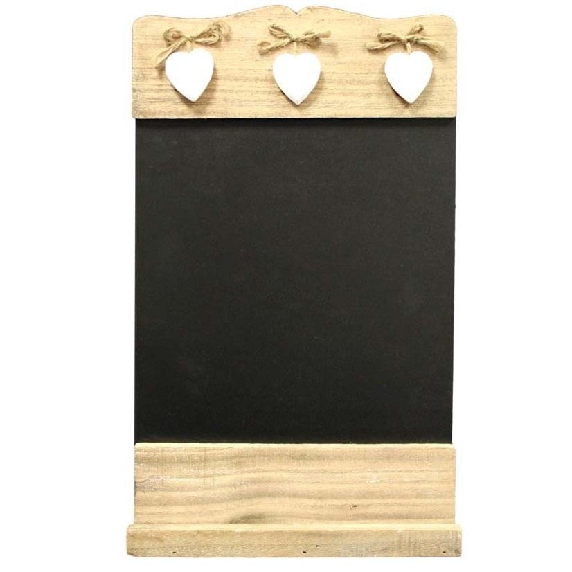 tablica kredowa z serduszkami