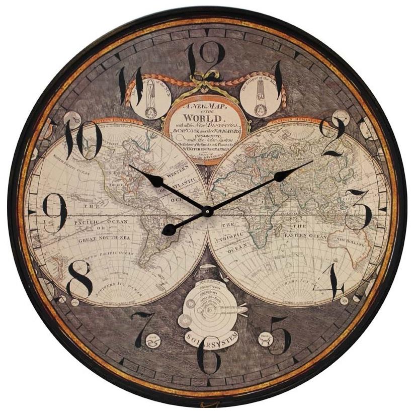zegar ścienny kontynenty