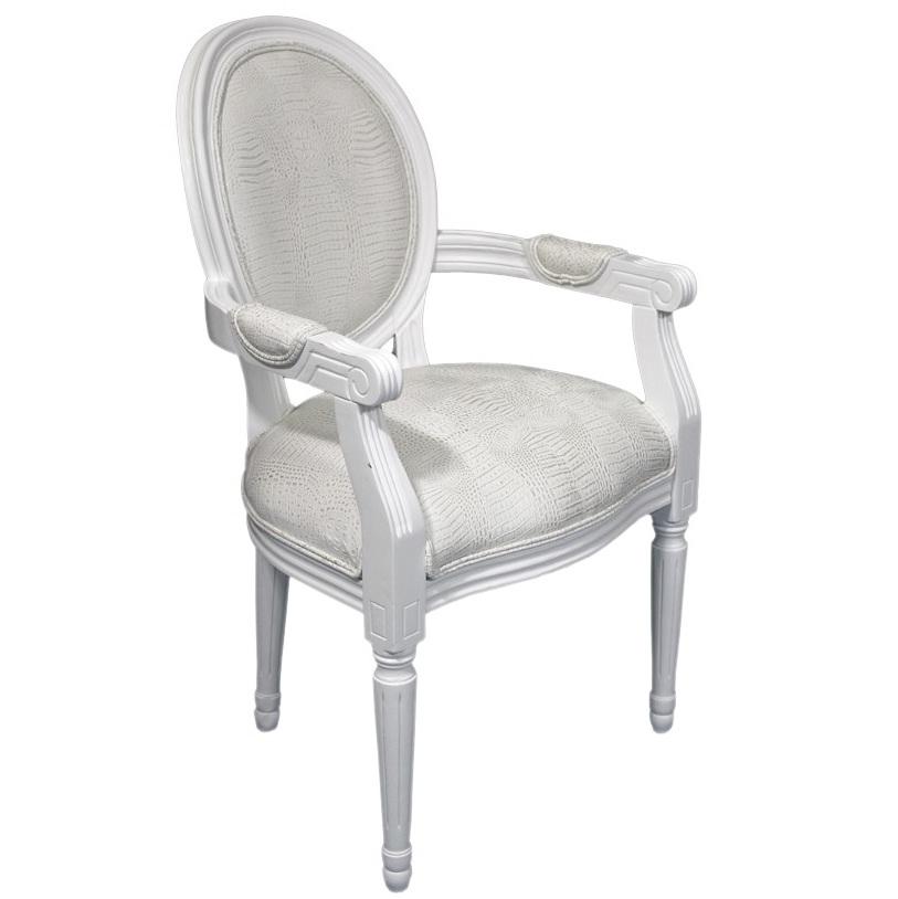 krzesło kenny białe z podłokietnikami