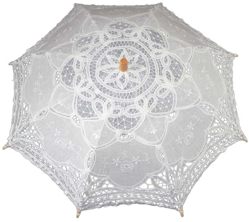 parasolka ślubna biała