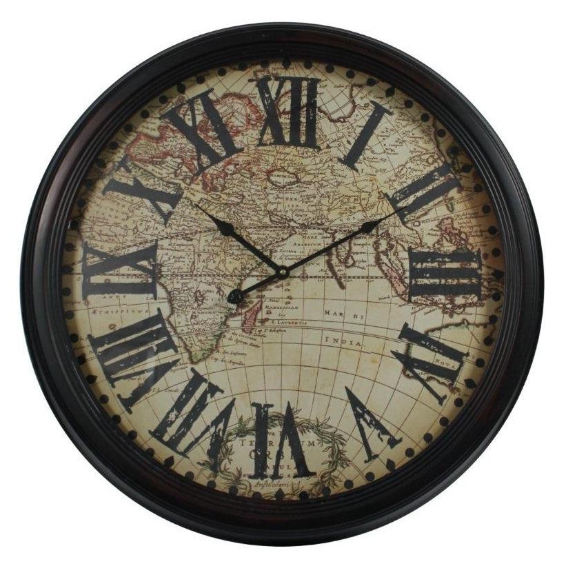 zegar mapa świata