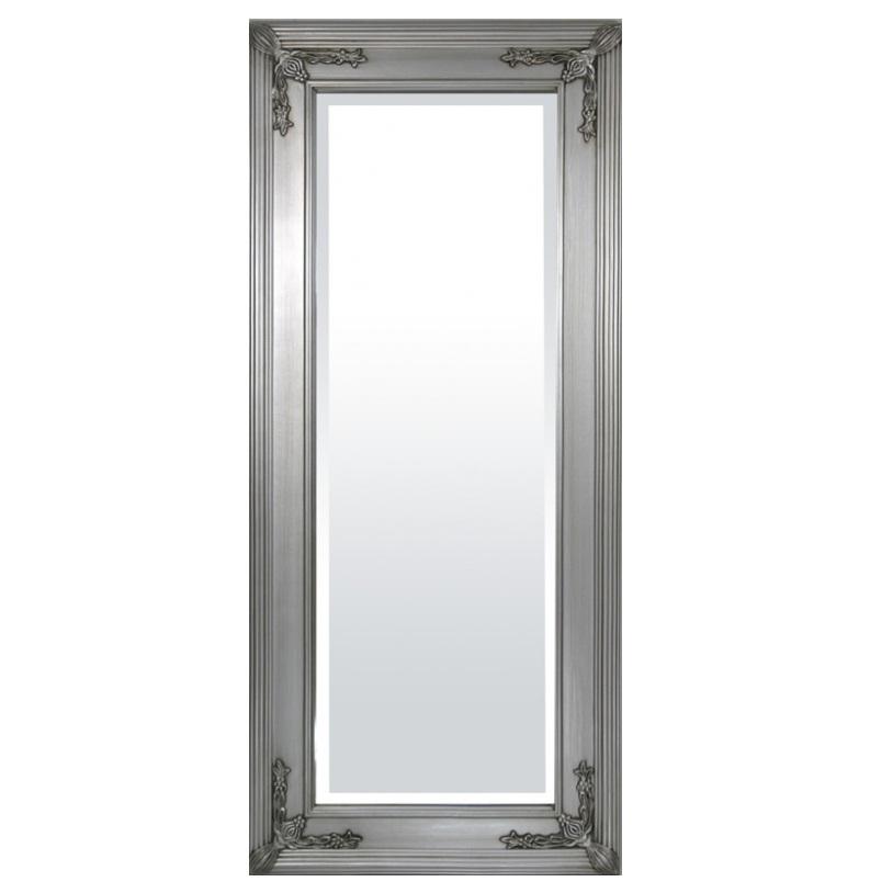 lustro duże srebrna rama