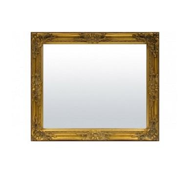 lustro małe rama złota