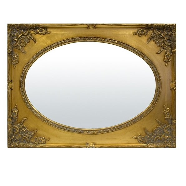 lustro złota rama stylowe