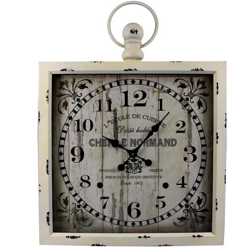 zegar wiszący biały