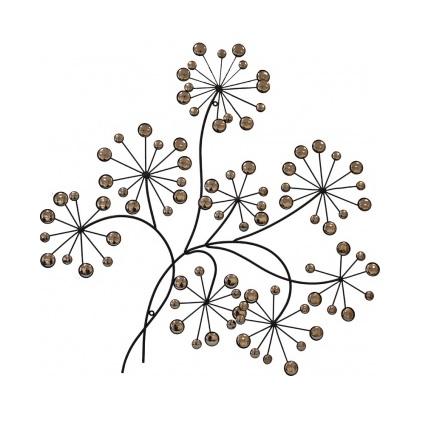 dekoracja drzewko metalowe