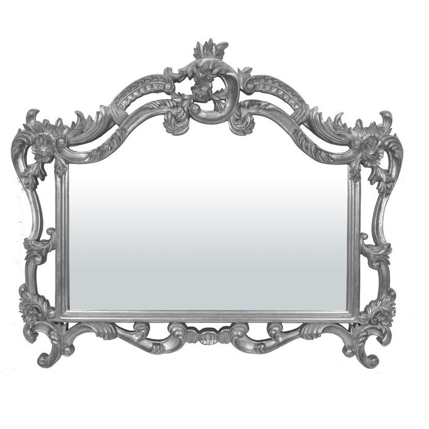 lustro secesyjne srebrna rama