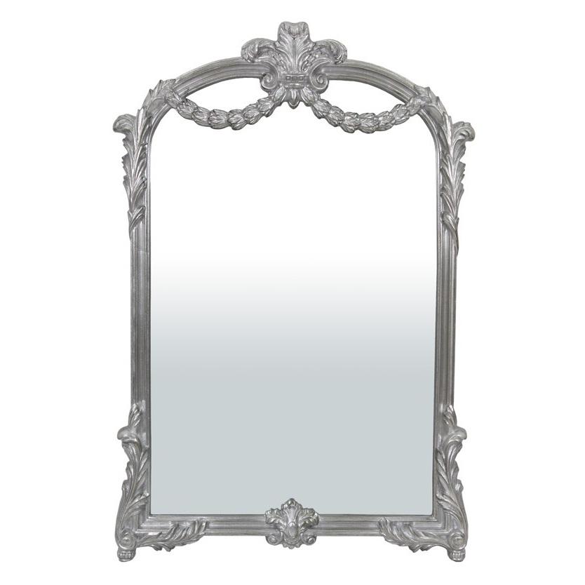 lustro srebrne secesyjne