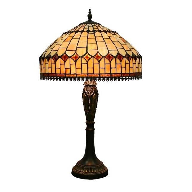 lampa witrażowa wysoka