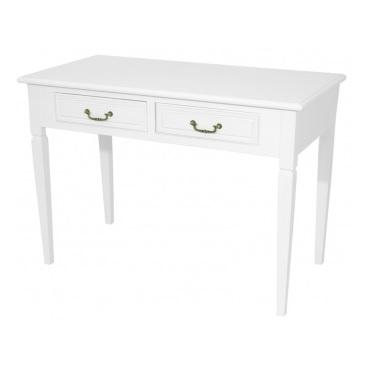 stół biały z szufladami