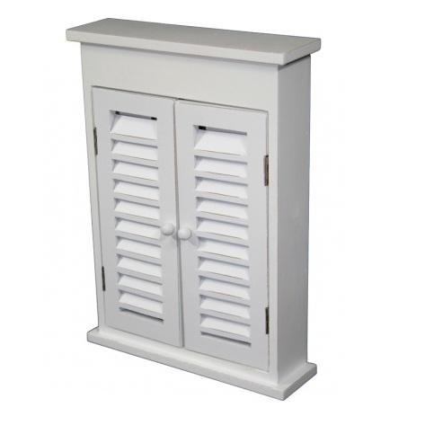 szafka na klucze biała z drzwiczkami