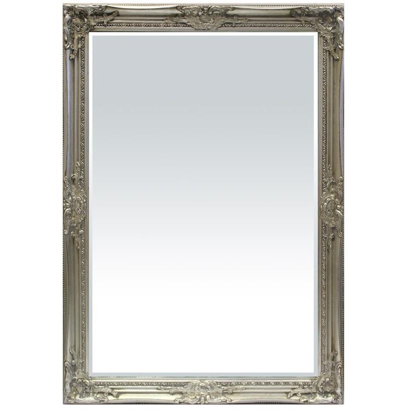duże lustro srebrna rama