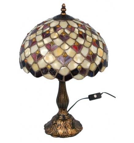 lampa witrażowa miodowa