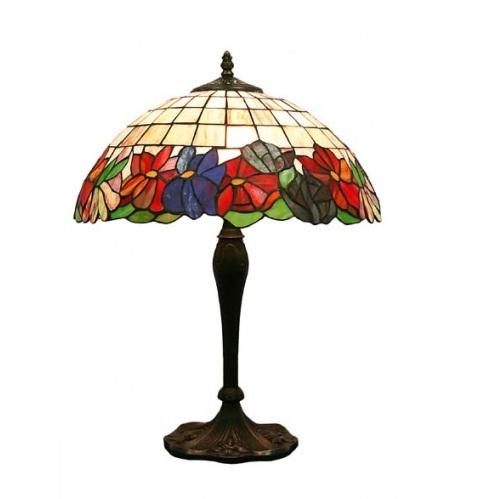 lampa witrazowa stołowa