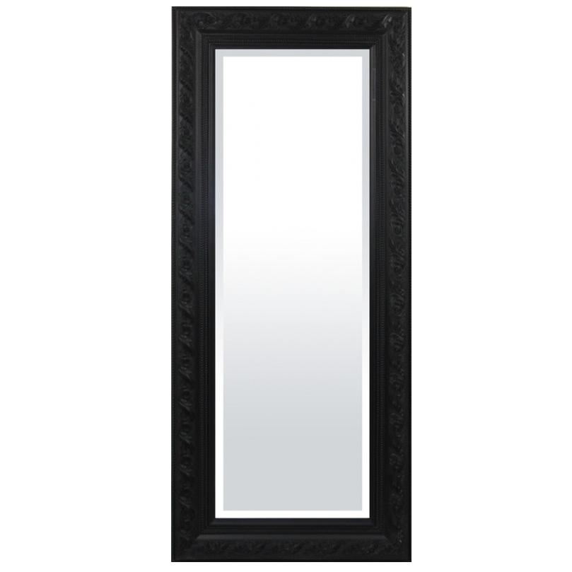 lustro czarna rama