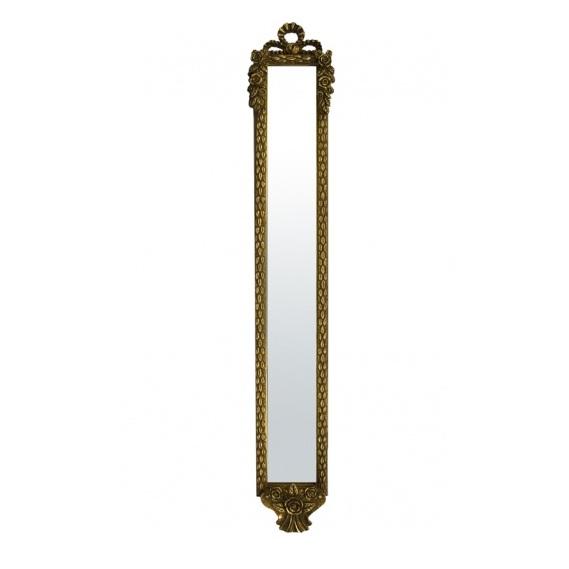 lustro wąskie rama złota