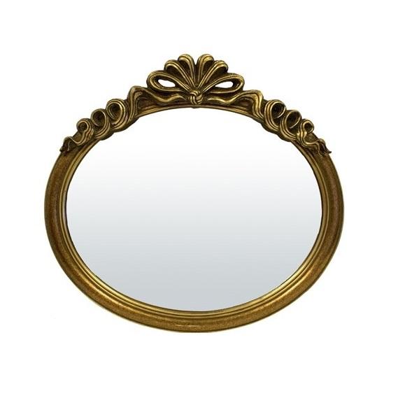 lustro złote owalne z koroną