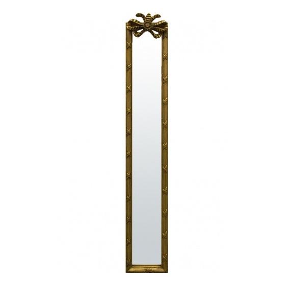 lustro złote prostokatne z kokardką