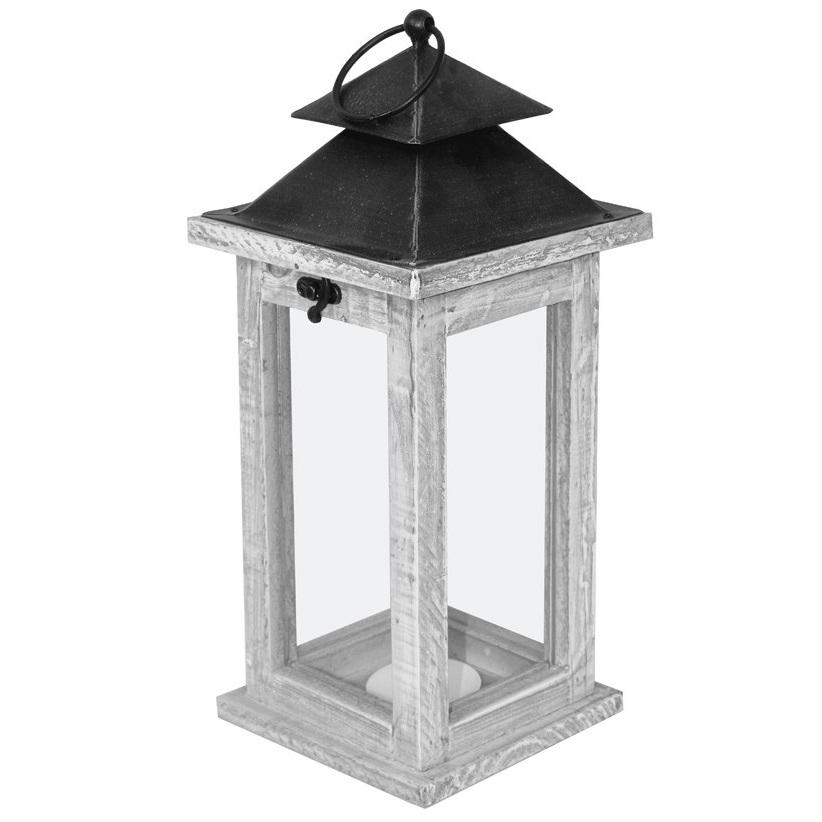 latarnia drewniana z daszkiem