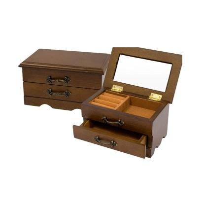 szkatułka na biżuterię z przegródkami