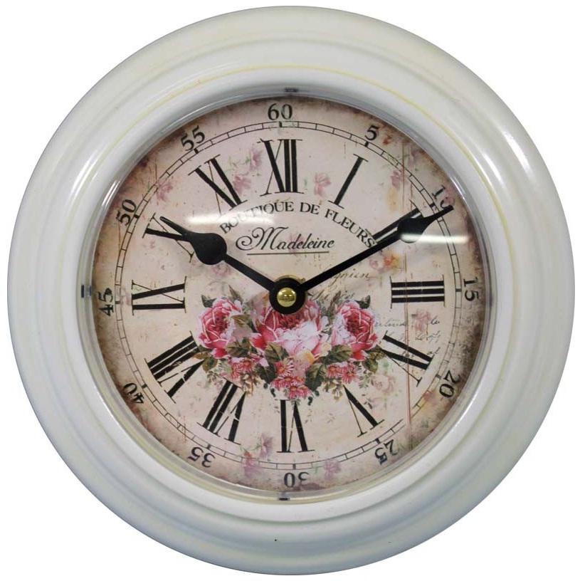 zegar cyferblat w róże