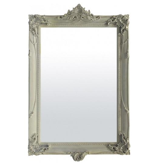lustro biała rama