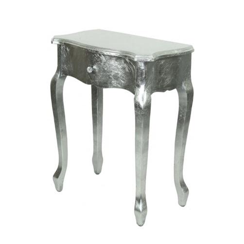 stolik srebrny