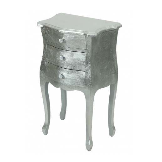 komoda srebrna 3 szuflady