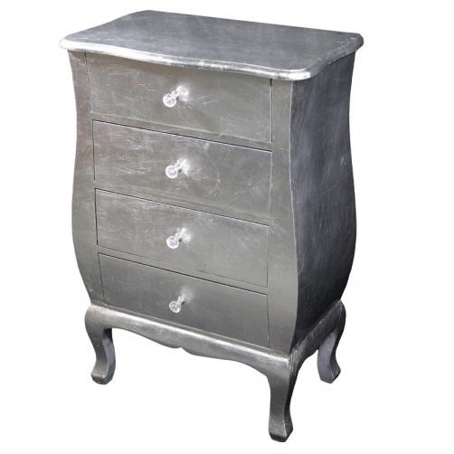 komoda srebrna 4 szuflady