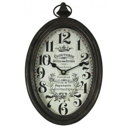 zegar owalny