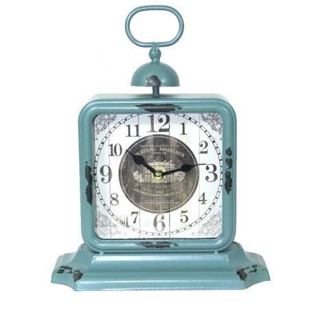 zegar stojący niebieski
