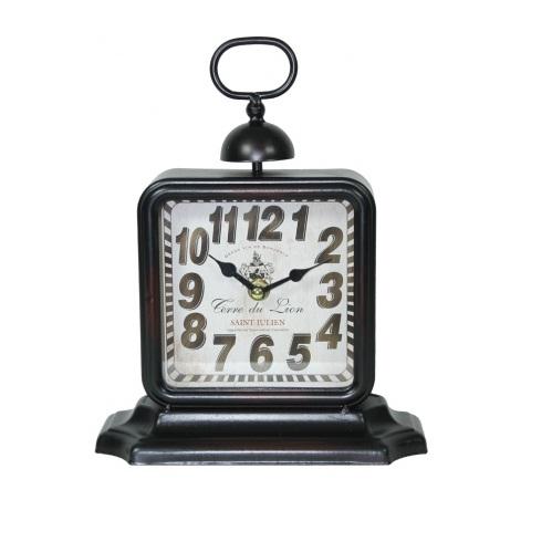 zegar stojacy brązowy czarny
