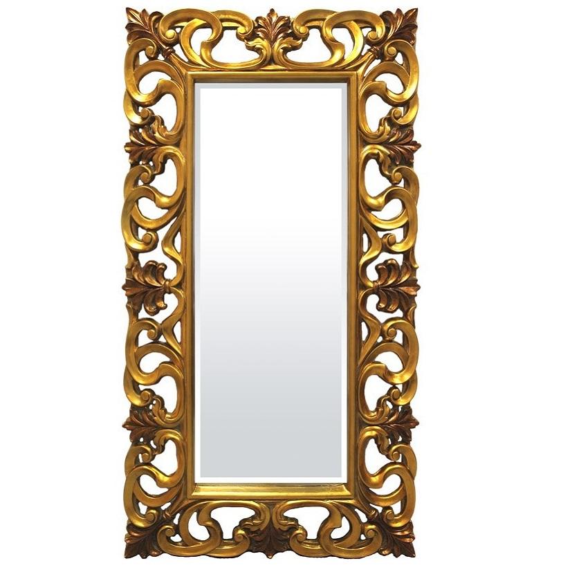 duże lustro złota rama
