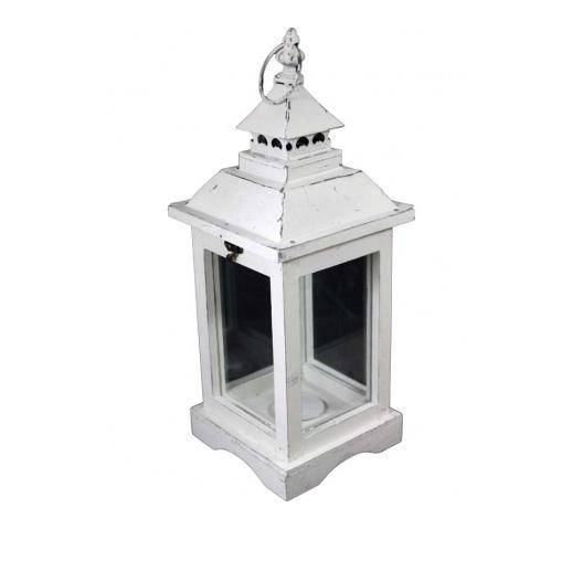 lampion biały z metalowym daszkiem miniaturka