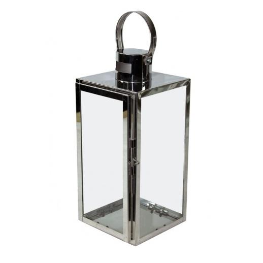 latarnia chromowana mała