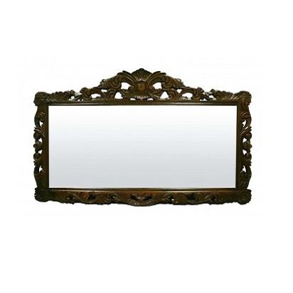 lustro drewniane brązowe