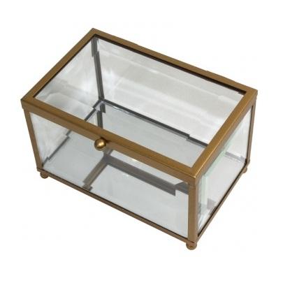 szkatułka szklana duża