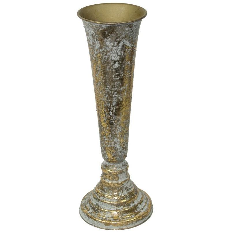 wazon metalowy z przodu