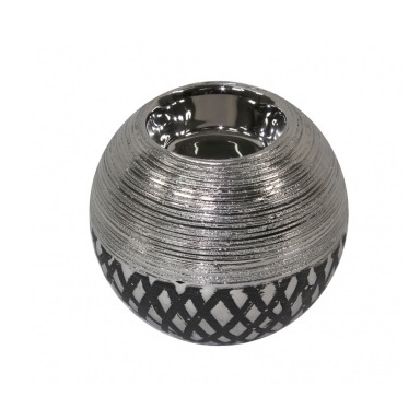 świecznik kula srebrny