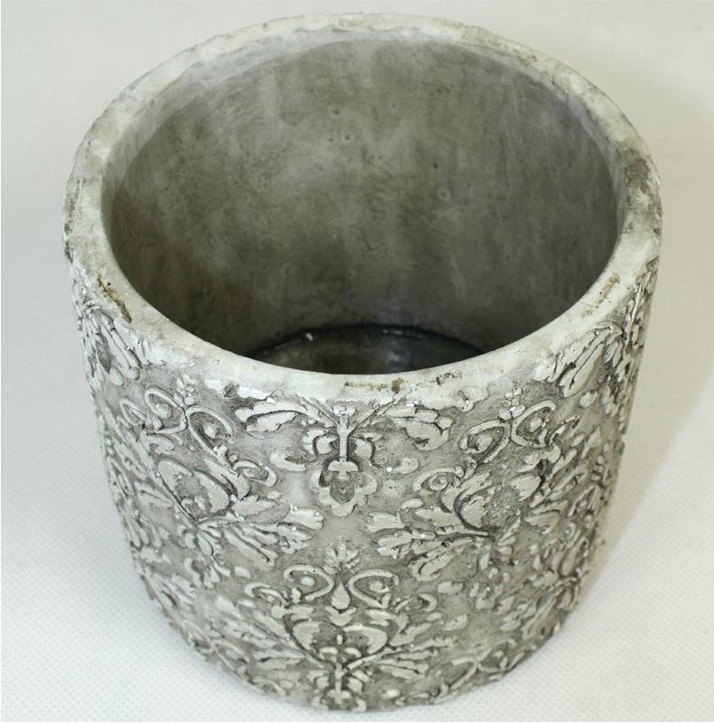 Doniczka Cyrus Stone H:12 x 13,5 x 13,5cm