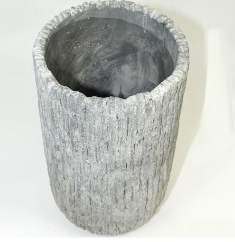 Doniczka Cyrus Stone H:23,5cm x 14cm x 14cm