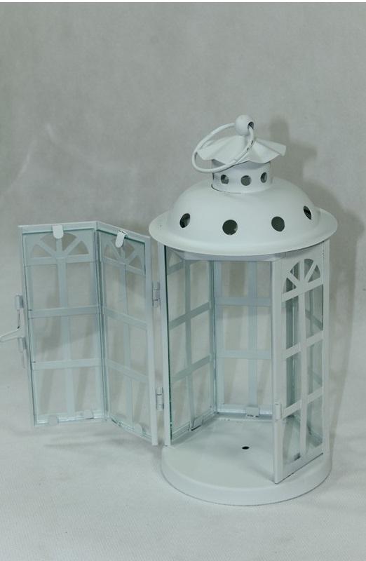 lampion biały latarnia otwarty