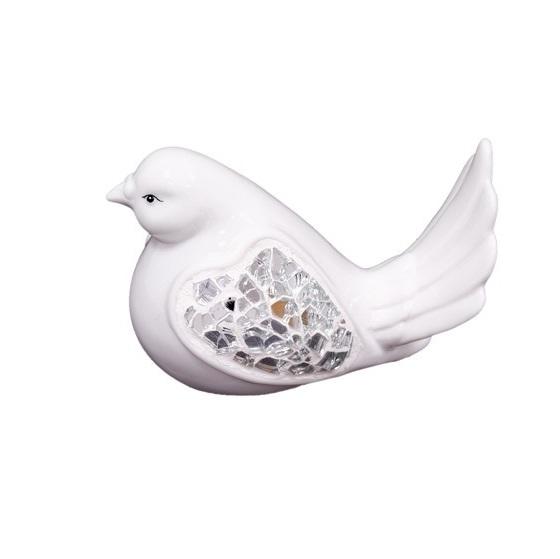 ptak biały mały