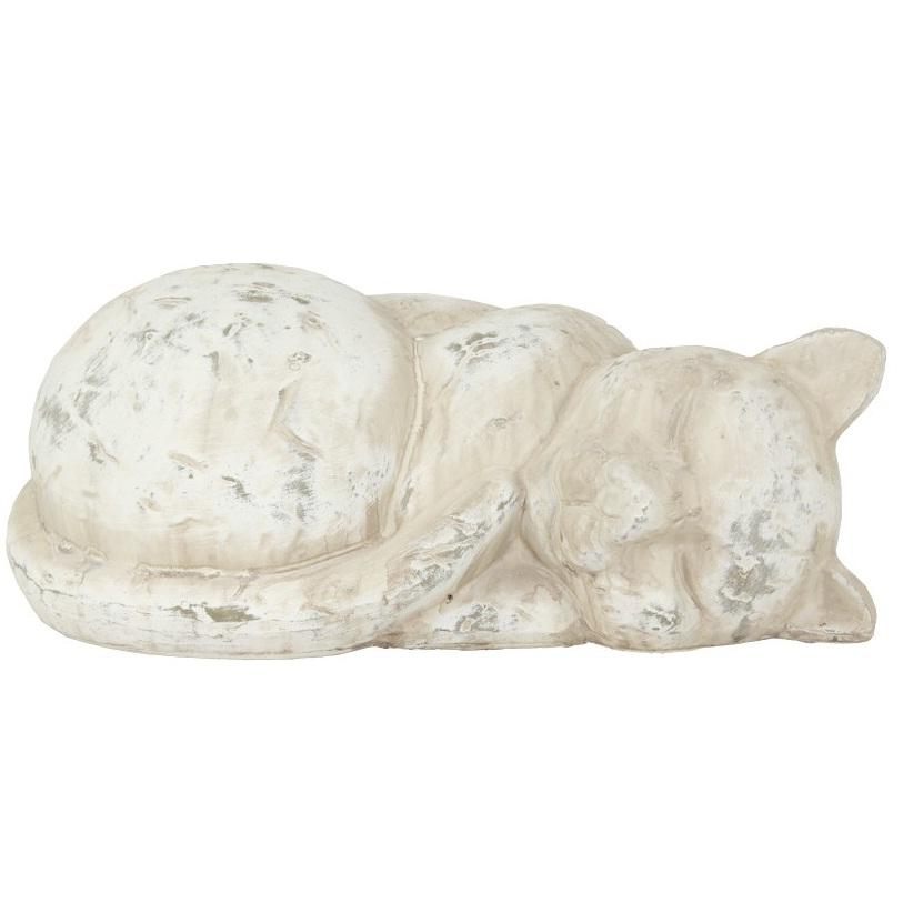 figurka kot leżacy