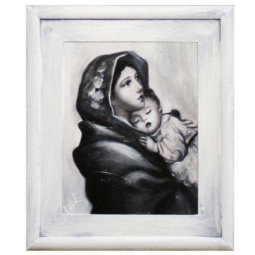 obraz Maryja z białą rama