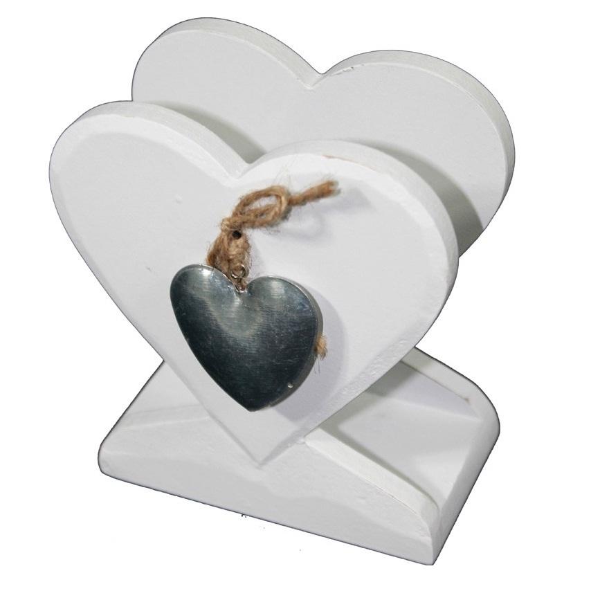 serwetnik metalowe serce